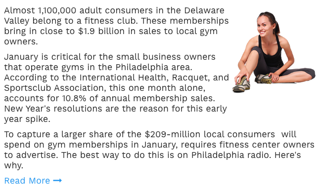 Health Club and Fitness Marketing In Philladelphia