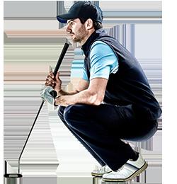 250px Golfer Crouching