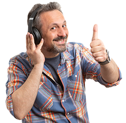 250px Man With Headphones Thumbs Up