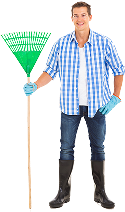 250px Man With Rake
